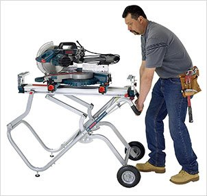 Bosch Portable Gravity Rise Wheeled Miter Saw Stand