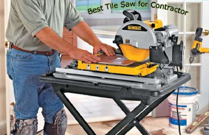 Best Tile Saw for Contractor